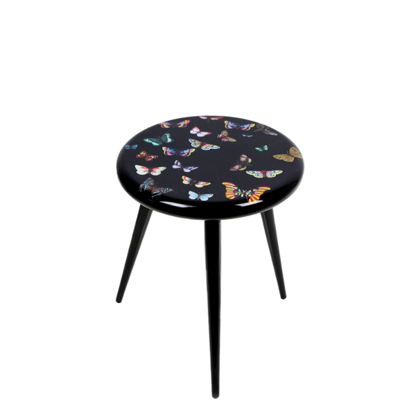 Stool Farfalle colour/black