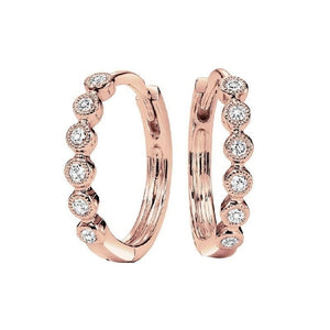 1/7TW Diamond Hoop Earrings