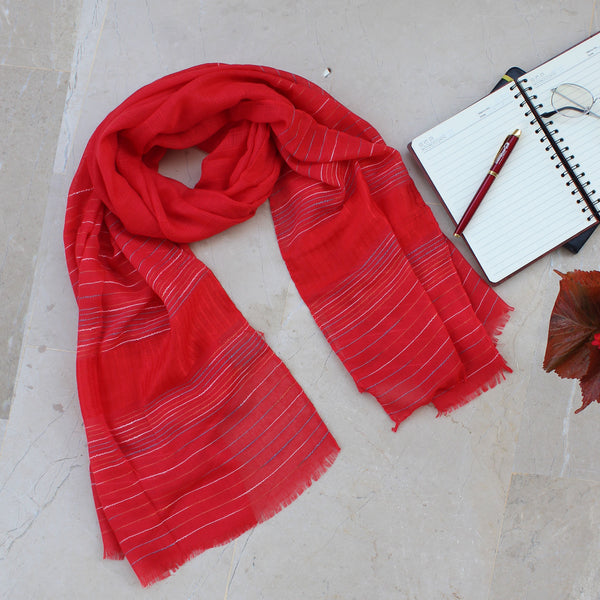Naika Red Scarf