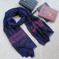 Gleam Navy Blue Scarf