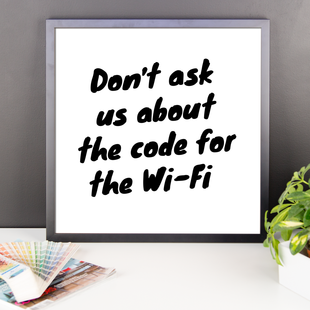 The Code For The Wi-Fi