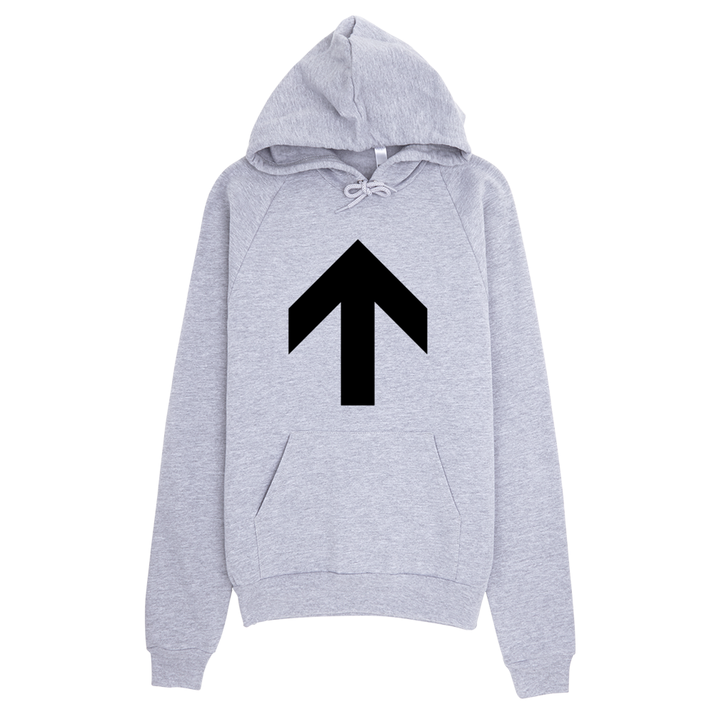 Up Arrow Hoodie - Heather Grey
