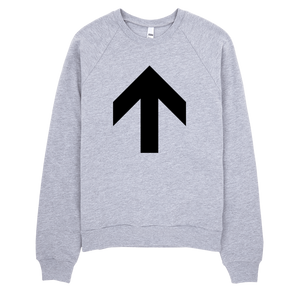 Up Arrow Sweatshirt - Heather Grey