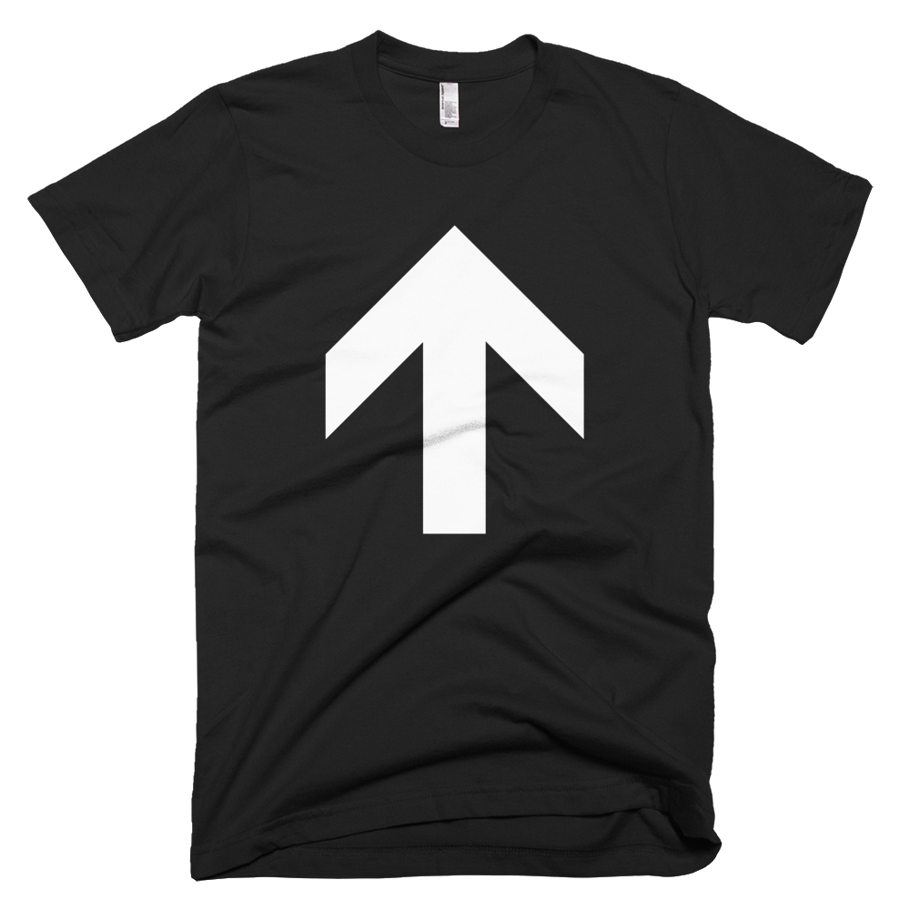 Up Arrow Tee - Black