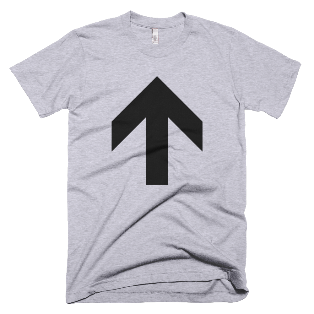 Up Arrow Tee - Heather Grey