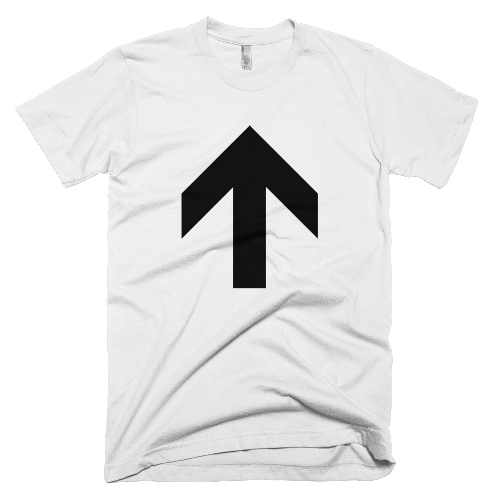 Up Arrow Tee - White