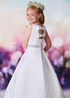 Sold OUT!! Satin Communion Dress with Bow Back Details
