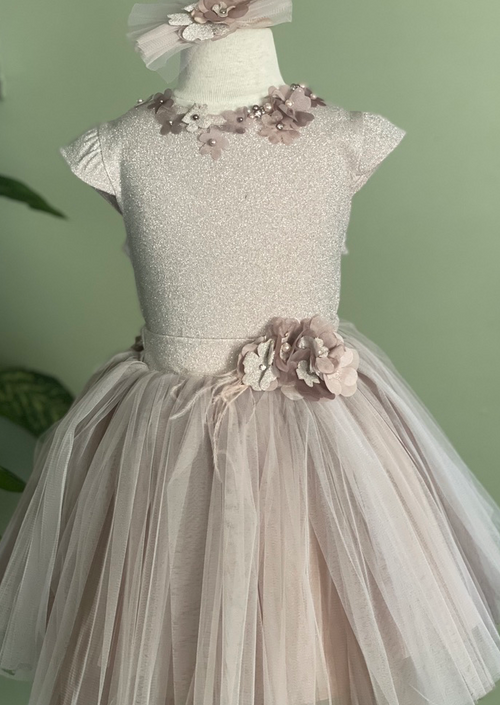 2pc Party Dress and Flowers