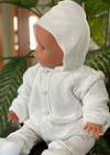 Knit Cotton Hooded Sweater Set
