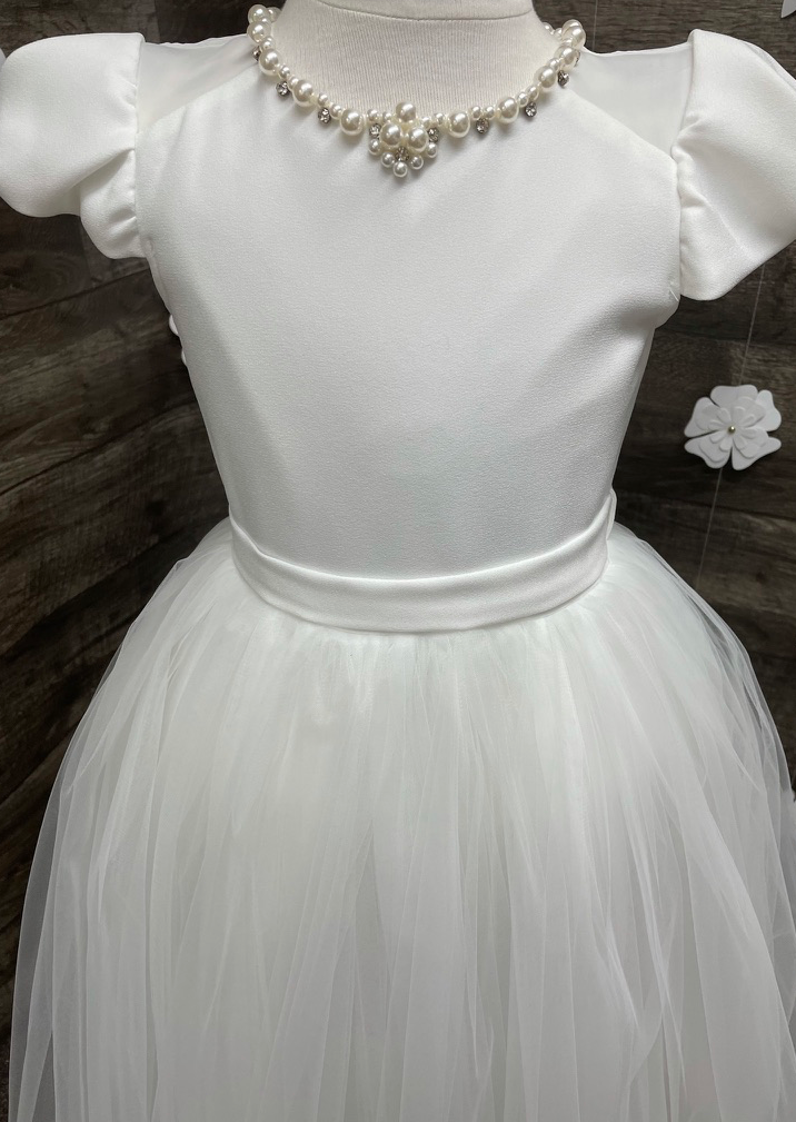 Crepe and Organza Dress