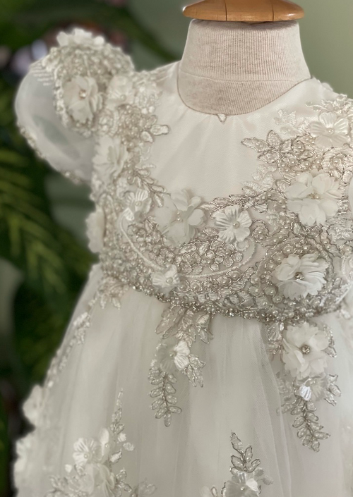 Sara's Exclusive Christie Helene Couture Gown with Flowers