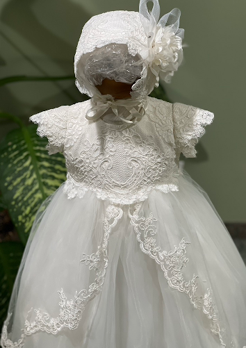 Lace and Tulle Christening Gown