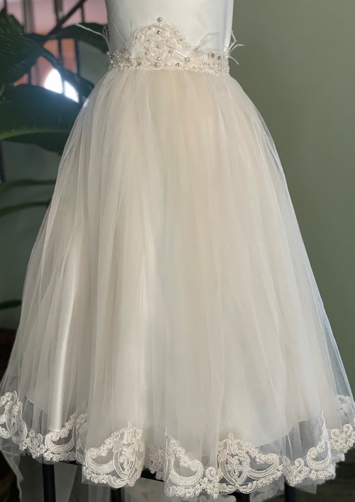 Lace and Tulle Flower Girl Dress