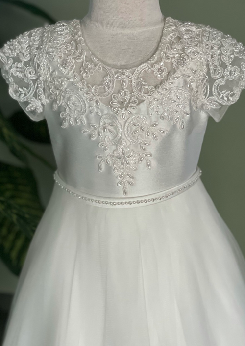 Scallop Lace Aline Flower Girl Dress