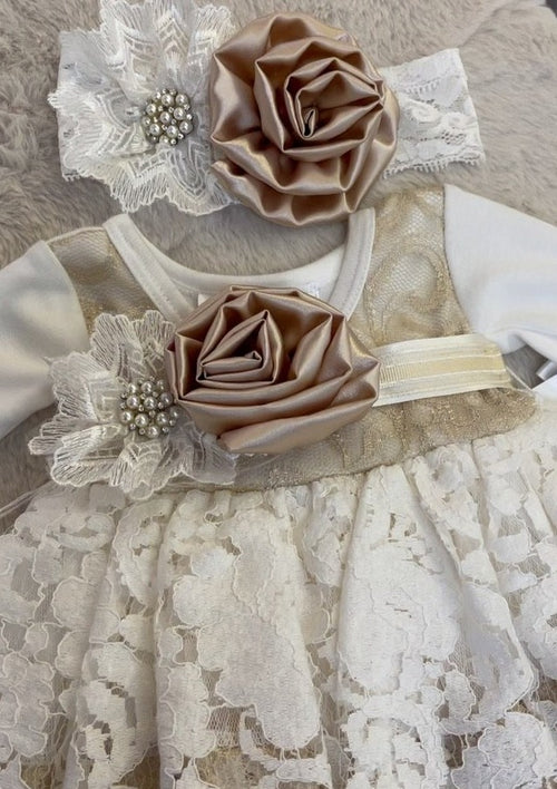 Katie Rose, Contrast Flower Infant Girls Outfit