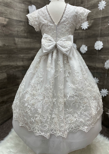 Lace and Pearl Couture Communion Gown