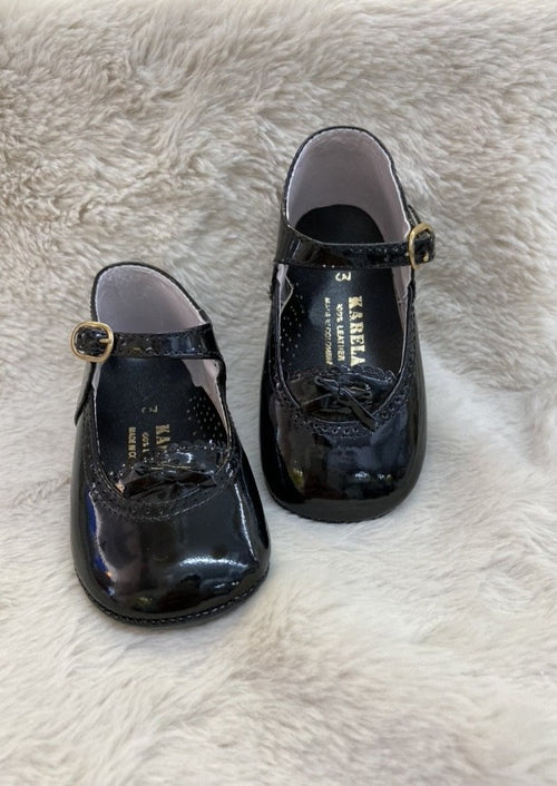 Girl's Patent Leather Soft Shoes
