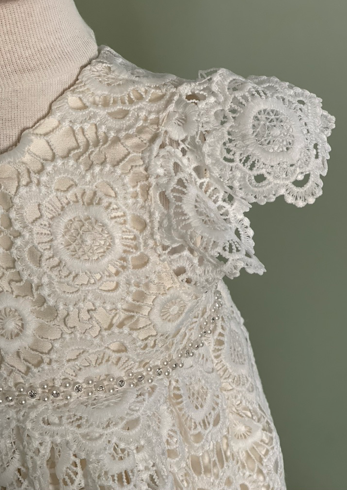 Crochet Lace Christening Gown