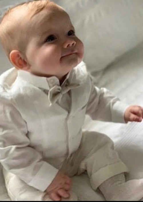 Made in Italy! Boys Linen Christening - Sara's Exclusive! 3M-4Y