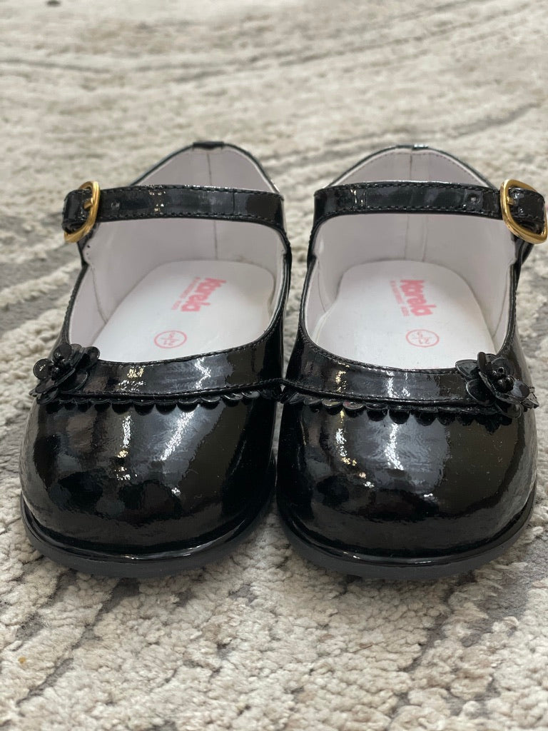 Girl's Patent Leather Walker Shoes