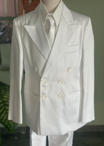 Sara's Exclusive! Italian Matte Silk Double Breasted Communion Suit