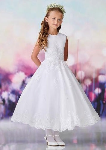 Satin and Lace Communion Dress