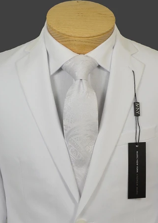 Classic Boys Slim White Suit