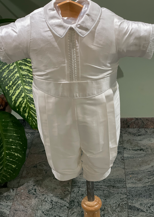 Traditional Boys Baptism with Cord Trim