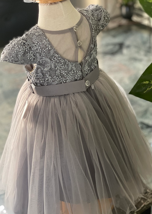 Party Dress with Lace and Flowers