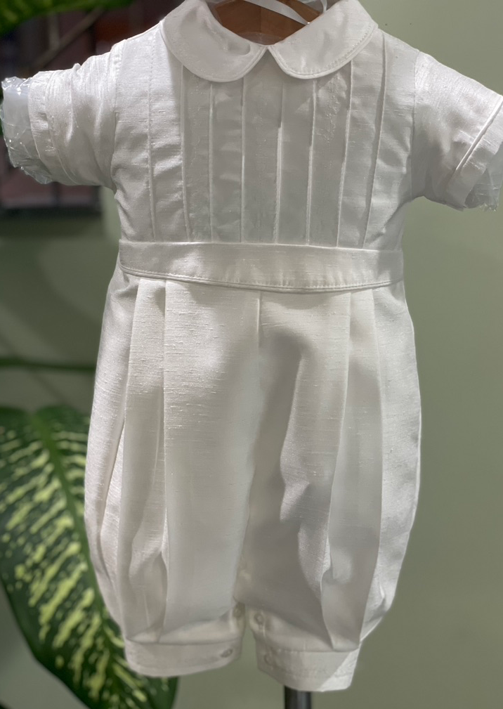 Silk Shantung Boys Christening