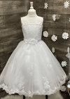 Delicate Lace And Tulle Communion Gown