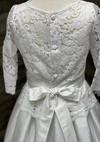 Silk Dress With Lace Overlay