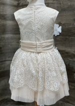 Gentle Metallic Lace Party Dress