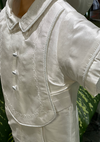 Formal Silk Boys Baptism with Thread Trim