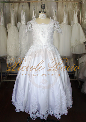 Short Sleeve Couture Communion Dress