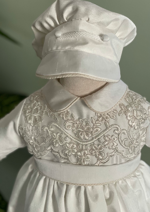 Boys Baptism Gown in Silk