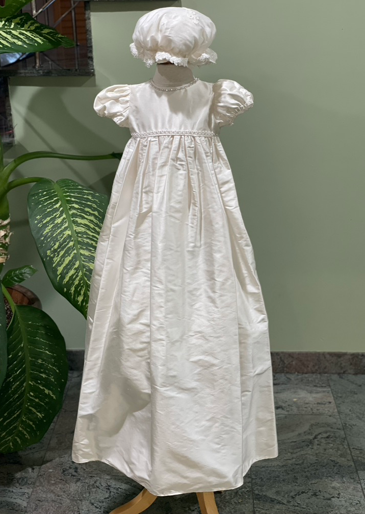 Lace and Silk Christening Gown and Coat