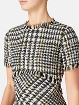 Lea Houndstooth Wool Dress