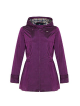 Ingrid Hooded Mac In Fuchsia