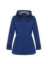 Ingrid Hooded Mac In Navy