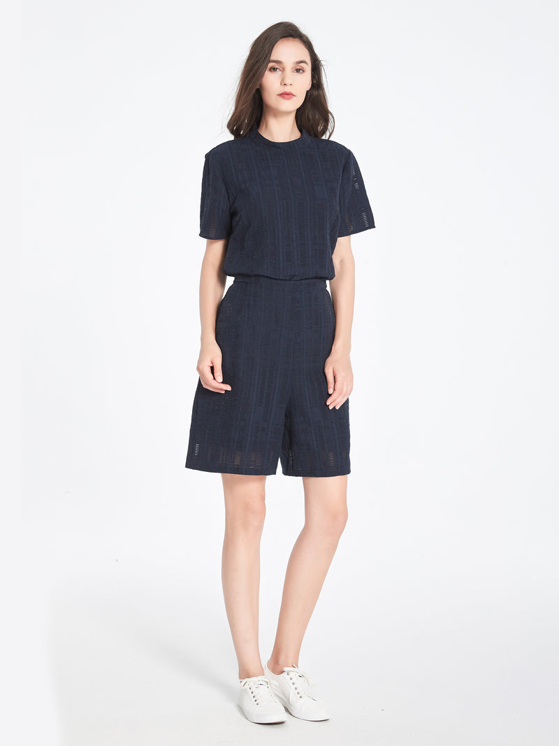 Bea Anglaise Top In Navy