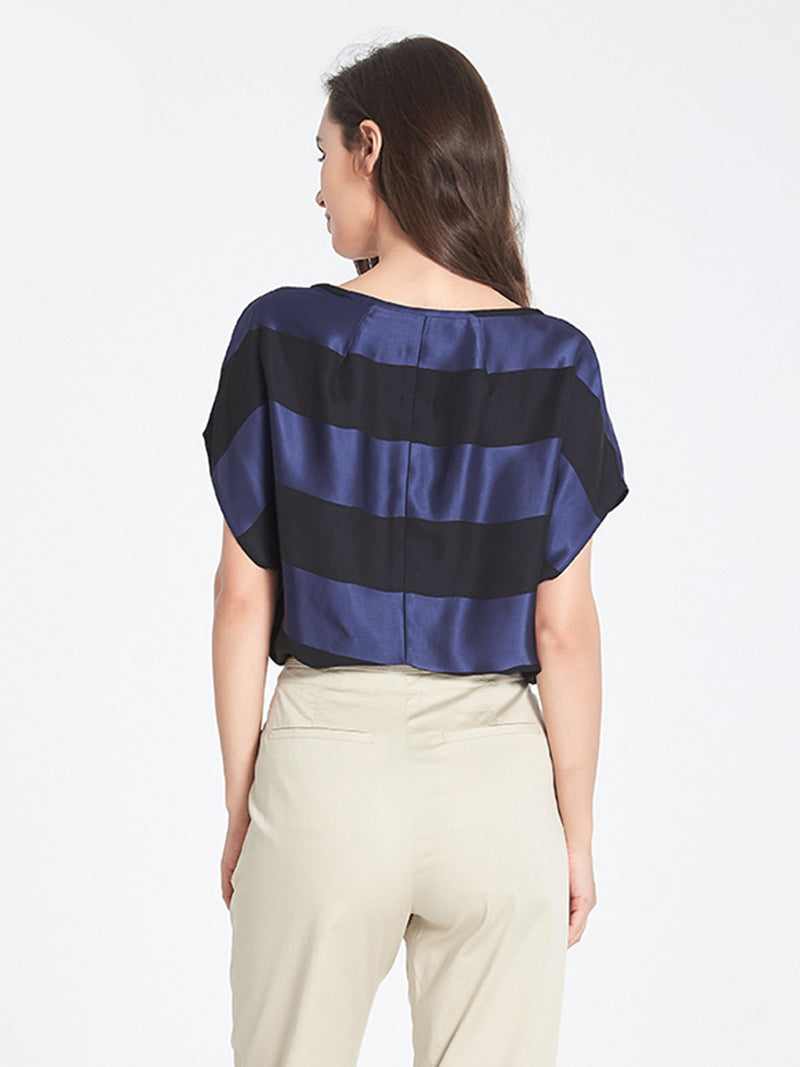 Judy Striped Top In Navy