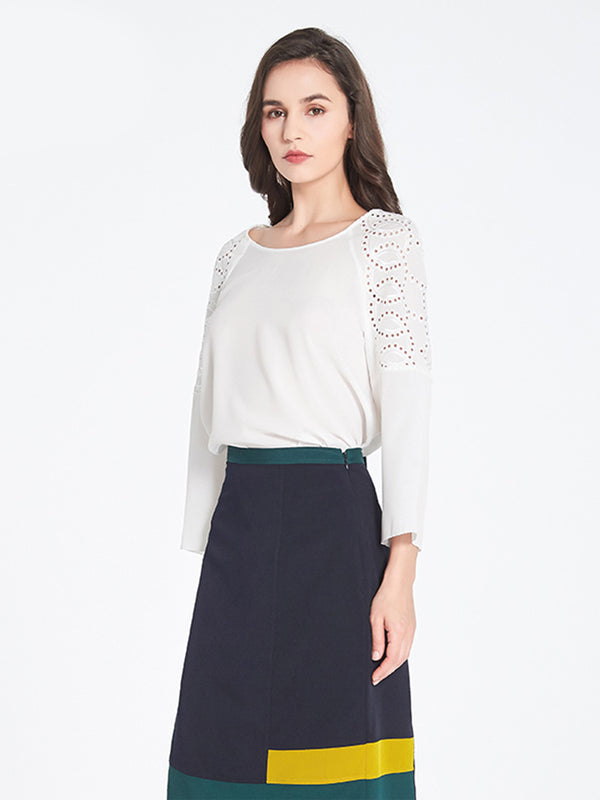 Kiko Embroidered Top In Ivory