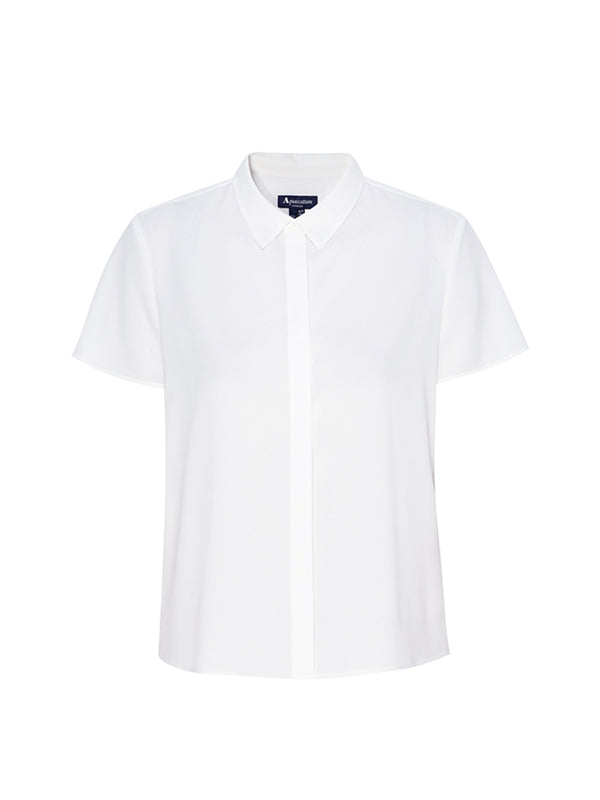 Orla Pleated Blouse In Ivory