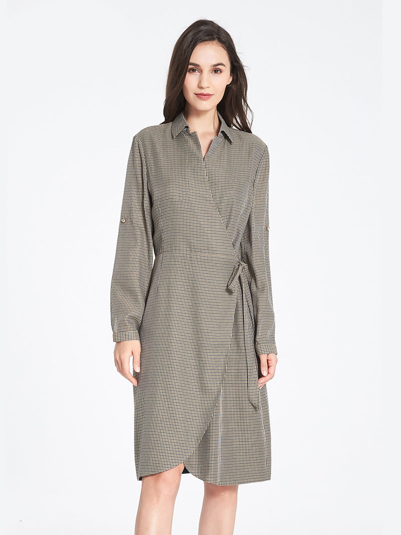 Camilska Trench Dress In Vicuna