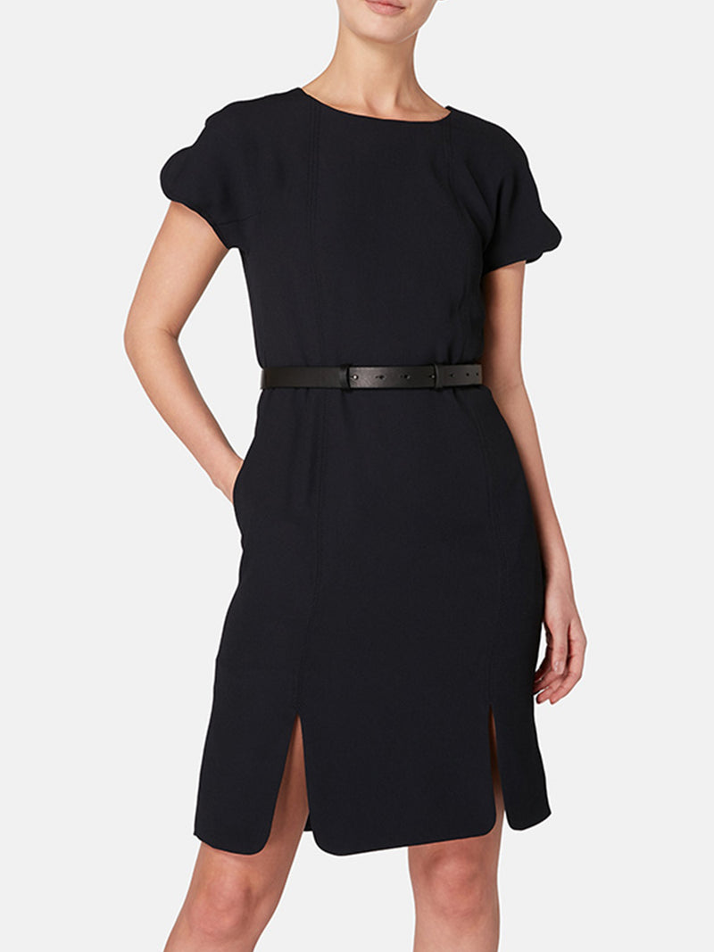 Purl Scallop Hem Dress