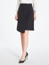 Melody Wrap Skirt In Black