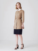 Ambre Single Breasted Trench In Camel