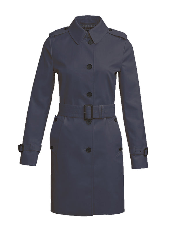 Trafalgar Single Breast Trench In Navy