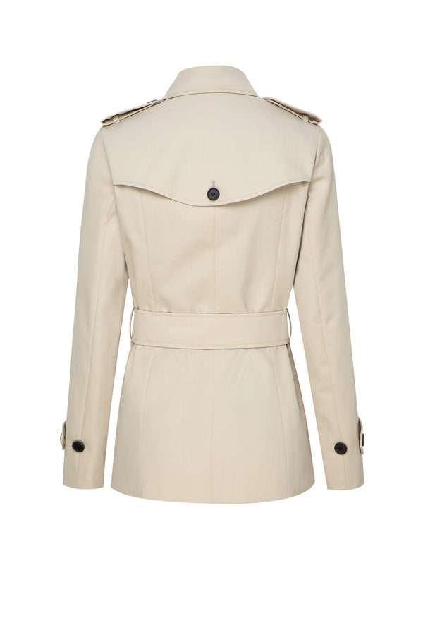 Tilsbury Single Breast Trench In Light Beige